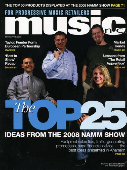 Music Inc. Top 25 of NAMM show cover
